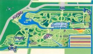 Mapa del parque de Keukenhof