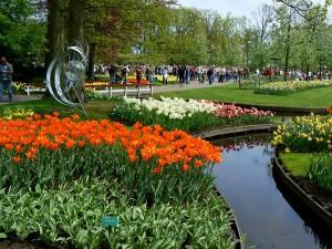 Tulipanes en los jardines Keukenhof, Holanda